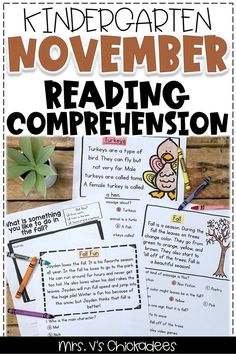 These kindergarten reading comprehension activities and worksheets are a great way for your on-level or struggling readers to practice their literacy skills. And these passages are perfect for fall! Click the picture to check out some of the amazing passages included. #kindergartenreading #readingcomprehension