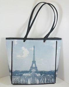 Paris Eiffel Tower Tote Shopping Bag Purse Travel Shoulder