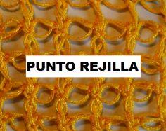 Patrones Crochet: Punto de Rejilla en Crochet Tutorial
