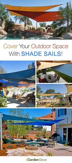 Cover Your Outdoor Space With Shade Sails • Tips, Ideas & Tutorial! I think I may need this in Midland...