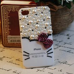 Hello Kitty Bling Bling Cell Phone Deco Kawaii by MiniatureSweet, $8.95