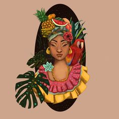 Palenquera a project by kavus. Colombian Culture, Colombian Art, Colombian Women, Caribbean Art, Latin Women, Mural Wall Art, Woman Drawing, Afro Art, Woman Painting