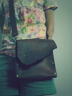 DIY leather bag for my wife...