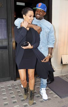 Kim Kardashian and Kanye Wests Sweetest PDA Moments: Hug It Out