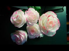 How to make toilet paper rose flower with wrapping method . DIY toilet paper rose - YouTube