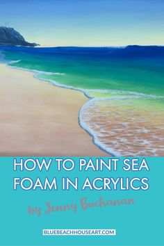 This video will show you how to paint those floating bits of sea foam that you see in the shore wash at the beach Acrylic Painting Lessons, Simple Acrylic Paintings, Acrylic Painting Tutorials, Acrylic Painting Canvas, Painting Tips, Beginner Painting, Painting Art, Beach Sunset Painting, Beach Art