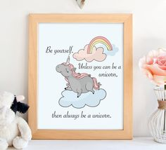 PRINTABLE Unicorn printable art. Wall by ShabbyMintChicParty