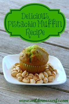 Moist Pistachio Muffin Recipe - The Wilderness Wife Easy Moist Pistachio Muffin Recipe - The Wilderness Wife muffin recipe - Dinner RecipesEasy Moist Pistachio Muffin Recipe - The Wilderness Wife muffin recipe - Dinner Recipes Muffin Recipes, Baking Recipes, Breakfast Recipes, Dessert Recipes, Dinner Recipes, Breakfast Muffins, Keto Desserts, Brunch Recipes, Baking Breads