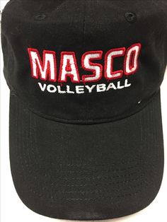 Embroidered hat for masco volleyball (Fall 2016)