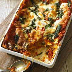 Tomato, Spinach and Three-Cheese Lasagne - Woman And Home