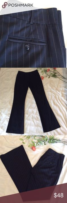 Pinstripe power slacks Low rise lightweight flare leg slack by Ciello Couture Los Angeles. Purchased at Nordstroms. EUC!  Thank you for shopping my closet! Ciello Couture Pants Boot Cut & Flare