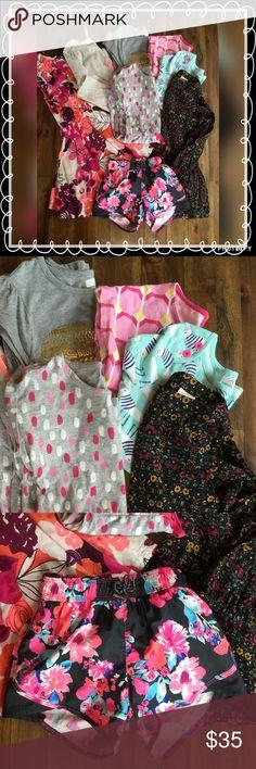 Girls Bundle Size Small 8 piece bundle includes 1 dress (Crazy8 size7) *  shorts (Oshkosh size6) * 2 tunics (Oshkosh size 6x and Gymboree size 6) * 4 tops- 1 long sleeve (Gymboree size 6) 1 3/4 sleeve (Crazy8 size (5-6) 2 cap sleeve tees (Crazy8 size 7/8 and Gymboree size 6). Please see individual listings for more detail 💕 Osh Kosh Shirts & Tops