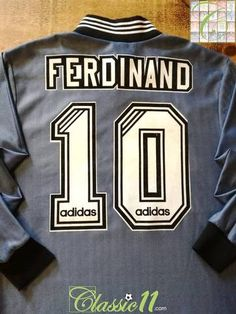 Official Adidas Newcastle United away long sleeve football shirt from the season. Complete with Ferdinand on the back of the shirt in original flock lettering. Newcastle United Football, Classic Football Shirts, Ferdinand, Blue And Silver, Adidas, Lettering, Long Sleeve, Fashion, Soccer