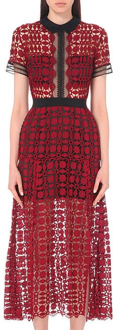 Guipure Embroidered Midi Dress