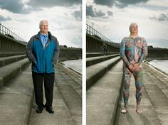 Revealing Portraits of Heavily Tattooed People Who Normally Cover Their Whole Bodies - My Modern Met