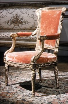 Armchair, Maker: Georges Jacob (French, 1739–1814, master 1765) Date: ca. 1780–90 Culture: French, Paris Medium: Walnut, gilded.