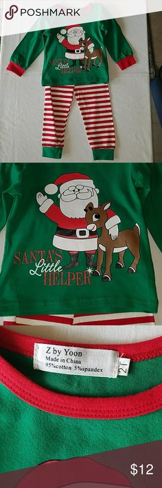 2 Pc Christmas Outfit or Pajamas PJ's Boys Girl 2T NWOT, 2Piece Set as Shown, Unisex, Size 2T Matching Sets