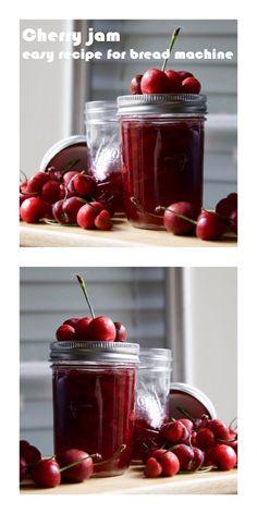 Cherry jam made in bread machine