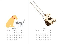 Good Dogs Dog Tricks wall calendar from Lizzy Clara