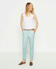 CHINO STYLE TROUSERS WITH BELT