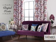 Enhance the interiors with digital printed curtains and upholstery. Explore our collections @ www.homesfurnishings.com #HomesFurnishings #Cushions #Upholstery #HomeDecor #Upholstery #Curtains #DigtalPrints #TGIF