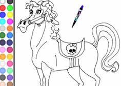Colorear Monster High.com - Juego: Colorear Pura Sangre - Jugar Gratis Online