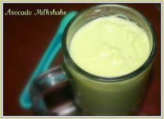 Avocado Milkshake Recipe. A Creamy Nutritious Milkshake made with just avocados, milk, and sugar.