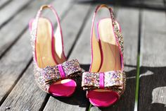 Pink glittery shoes