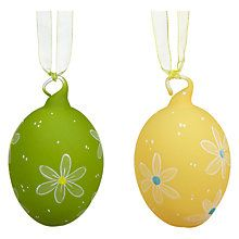 Buy John Lewis Coloured Glass Easter Eggs, Assorted Colours from our Wall & Hanging Decorations range at John Lewis & Partners. Easter Tree, Easter Eggs, Spring Colors, Colored Glass, John Lewis, Decorating Your Home, Delicate, Colours, Christmas Ornaments