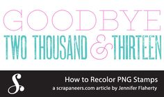 How to Recolor PNG Stamps - Scrapaneers tutorial
