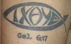 Message Thorn Tattoo, I Tattoo, Symbol Tattoos, Faith Tattoos, Tatoos, Gal 6, Christian Tattoos, Christian Symbols, Bible Words