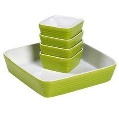 Basic Essentials 5-pc. Nesting Square Baker Set