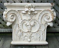 Antique Corinthian Capital Glazed Ceramic Canada U S Late 19th Century   eBay