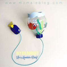 DIY A bilboquet quotThe world of Dory quot Summer Crafts, Diy And Crafts, Diy For Kids, Crafts For Kids, Diy Bird Feeder, Fitness Gifts, Babysitting, Dory, Activities For Kids