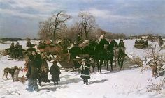 Year of the horse meet with Polish artist realist Kowalski Alfred (Alfred Kowalski-Wierusz Discussion on LiveInternet - Russian . Year Of The Horse, Classic Paintings, Art Auction, Horses, Artist, Outdoor, Image, Dogs, Polish