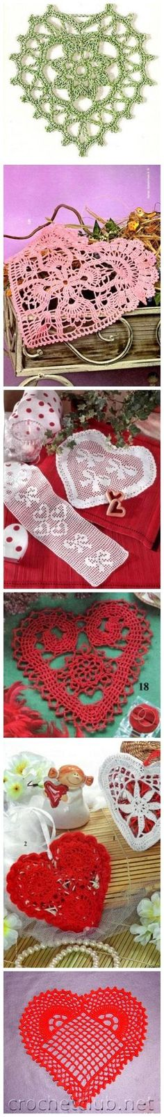 Many free crochet heart motif, sachet, ornament patterns.