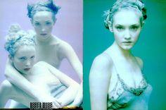 Vogue Italia February 1998 Body's Magic Photographer: Paolo Roversi Stylist: Alice Gentilucci Models: Laetitia Casta & Unknowns Make-Up: Topolino Hair: Eugene Souleiman