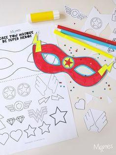 Devenir un super héros ou une super héroïne, n'aura jamais était aussi créatif qu'avec ce kit à imprimer pour créer son propre masque ! Ce sont les enfants qui décident de tout et personnalisent leur héros !