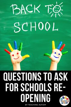 This school year is probably going to look different for all of us. But one thing I'm seeing is how anxious a lot of us are about schools re-opening. So today on the podcast I'm sharing questions to ask for schools re-opening. Sensory Activities, Educational Activities, Classroom Activities, Autism Teaching, Autism Classroom, Questions To Ask, This Or That Questions, Special Education Behavior, Autism Resources