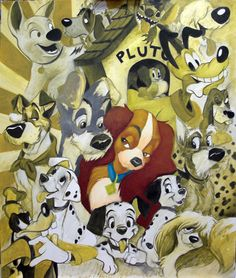 The Disney Dogs: I love that Stitch is included but does Goofy technically qualify?