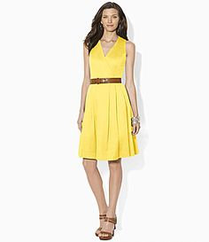 Lauren Ralph Lauren WrapBodice Dress #Dillards