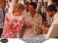 February 3, 1988: Prince Charles & Princess Diana visit a Crocodile Farm at Noonamah, Darwin.