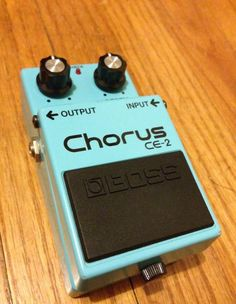Vintage Boss CE-2 Chorus [Green Label, Made in Japan!] The CE-2 was the first compact pedal chorus from Boss.