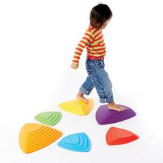 River stones sensory toy. Cool idea for outside in the grass or in shallow water.