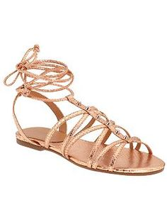 Pedi-ready? Put these strappy metallic sandals on your summer lust list.