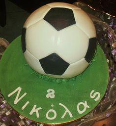 Sugar flowers Creations: Τούρτα Μπάλα ποδοσφαίρου -football cake