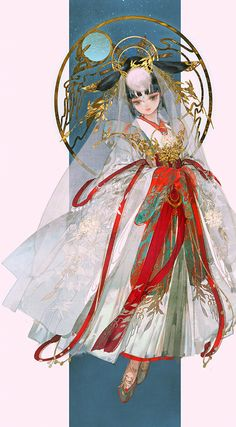 """美人画 "" Paintings of beauties in traditional Chinese hanfu, Part 4 (Part by Chinese artist 伊吹鸡腿子. Female Character Design, Character Design Inspiration, Character Art, Anime Art Girl, Manga Art, Anime Manga, Character Illustration, Illustration Art, Illustrations"