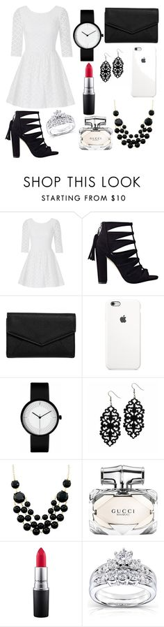 """Untitled #65"" by bosniamode ❤ liked on Polyvore featuring Lilly Pulitzer, LULUS, Gucci, MAC Cosmetics and Kobelli"