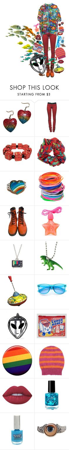 """""""Untitled #690"""" by dust-mite ❤ liked on Polyvore featuring Current/Elliott, Dr. Martens, Zena, Dinosaurs, ZeroUV, I Love Mel, George J. Love, Lime Crime and Hot Topic"""
