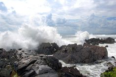 Aug. 23, 2009 Stormy Coast, Kennebunkport, Maine |  photograph by Geraldine Aikman